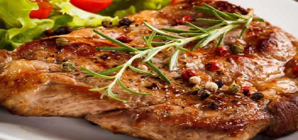juicy seared baked pork chop